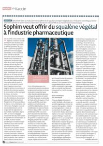 Sophim squalène végétal vaccin