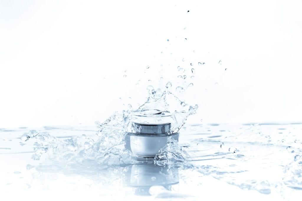 cosmétique et eau